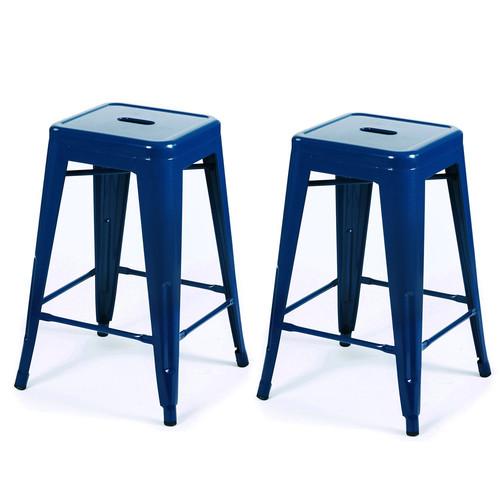 Adeco Trading Tolix 24 Bar Stool Set of 2 Walmart