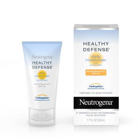 Neutrogena Healthy Defense Daily Moisturizer For Sensitive Skin With Broad Spectrum Spf 30 Sunscreen  1 7 Fl  Oz