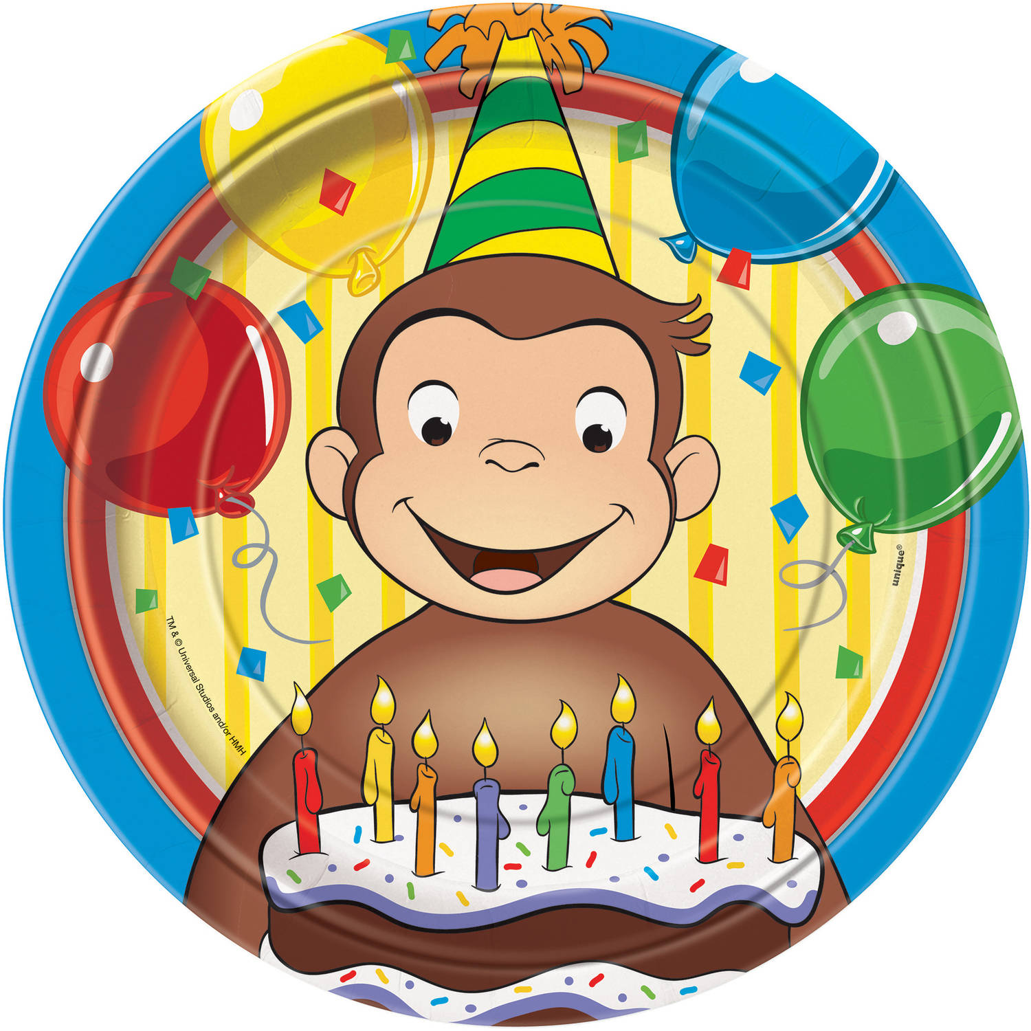 "9"" Curious George Party Plates, 8ct"
