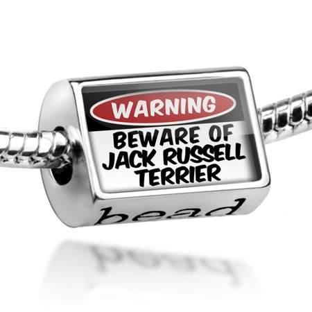 Bead Beware of the Jack Russell Terrier Dog from England Charm Fits All European - Jack Russell Terrier Dog Charm