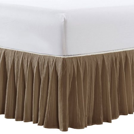 White Classic Bedskirt - Serenta Pleat 18'' Bed Skirt