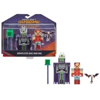 Minecraft Dungeons 3.25-in Battle Figures 2-Pk, Nameless One and Hal
