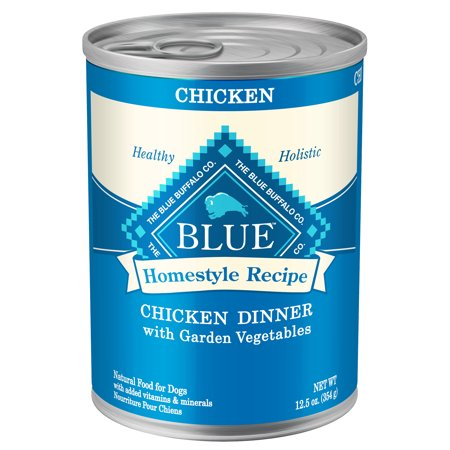 Blue Homestyle Recipe Chicken Dinner with Garden Vegetables Wet Dog Food, 12.5-oz cans, Case of