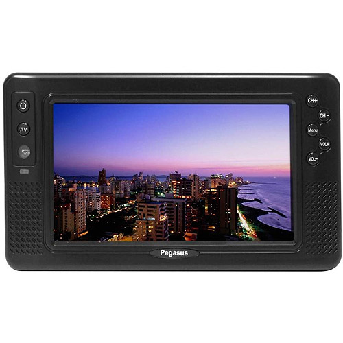"Pegasus STO9-B 9"" Portable Digital TV with ATSC Tuner"