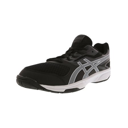 Asics Men's Upcourt 2 Black / White Dark Grey Ankle-High Volleyball Shoe -