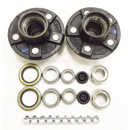Set of 2 Trailer Idler Hub Kits 5 on 4.5 for 3500 lbs Axle - -
