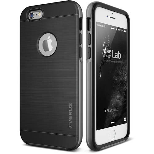 iPhone 6S Case Soft Cover Case by VRS Design High Pro Shield Series, Steel Silver
