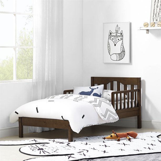 Baby Relax Carolina Toddler Bed, Kids Bedroom Furniture, Mocha Wood