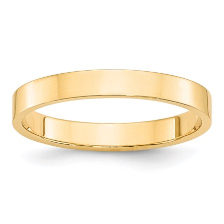 14kt Yellow Gold 3mm Ltw Flat Wedding Ring Band Size 9 Classic Fine Jewelry Ideal Gifts For Women Gift Set From Heart