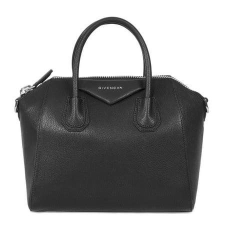 - Givenchy Antigona Sugar Goatskin Leather Satchel Bag | Matte Black with Silver Hardware | Small