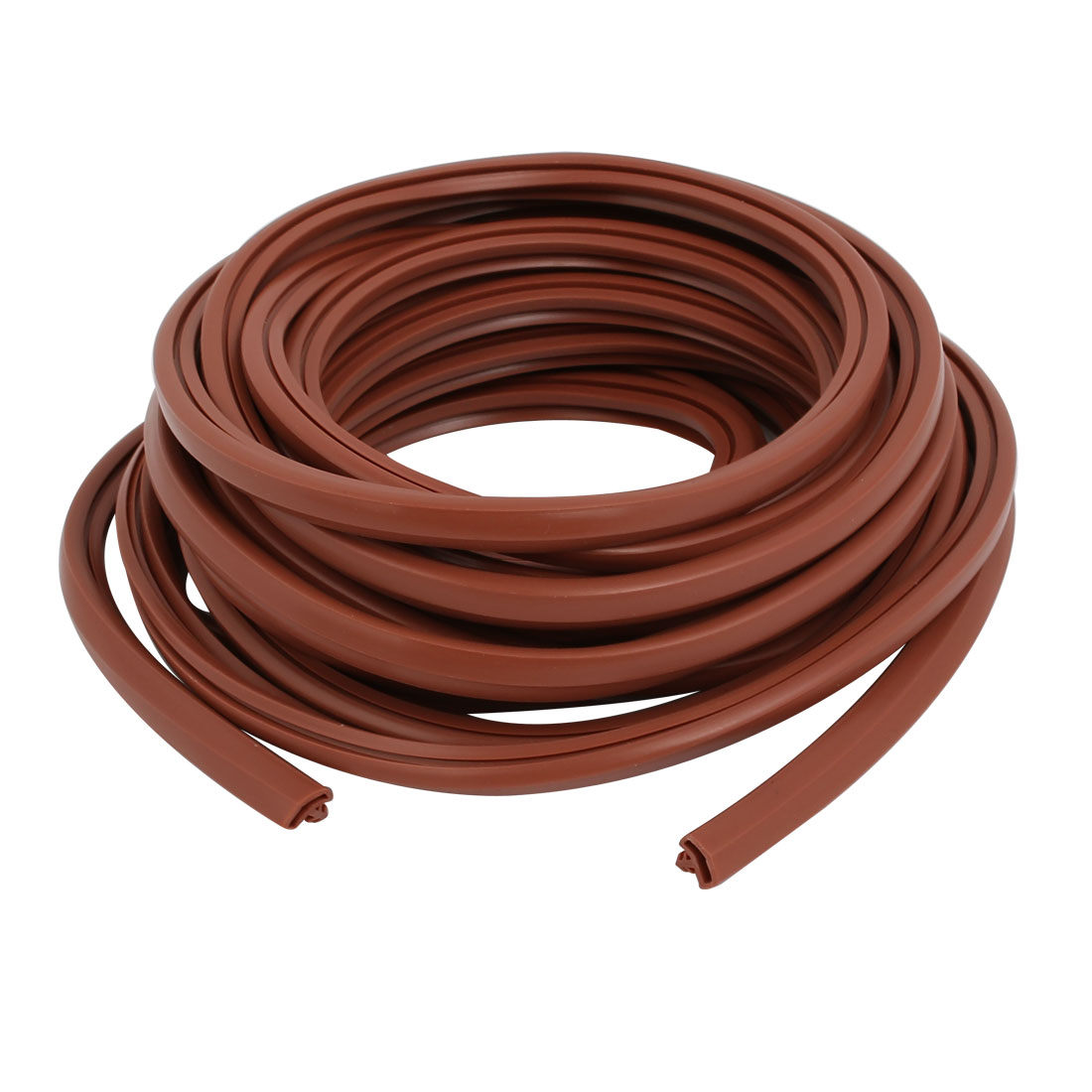 Unique Bargains 5Meter 5x8mm Rubber Roof Shape Door Frame Groove Weather Stripping Red Brown