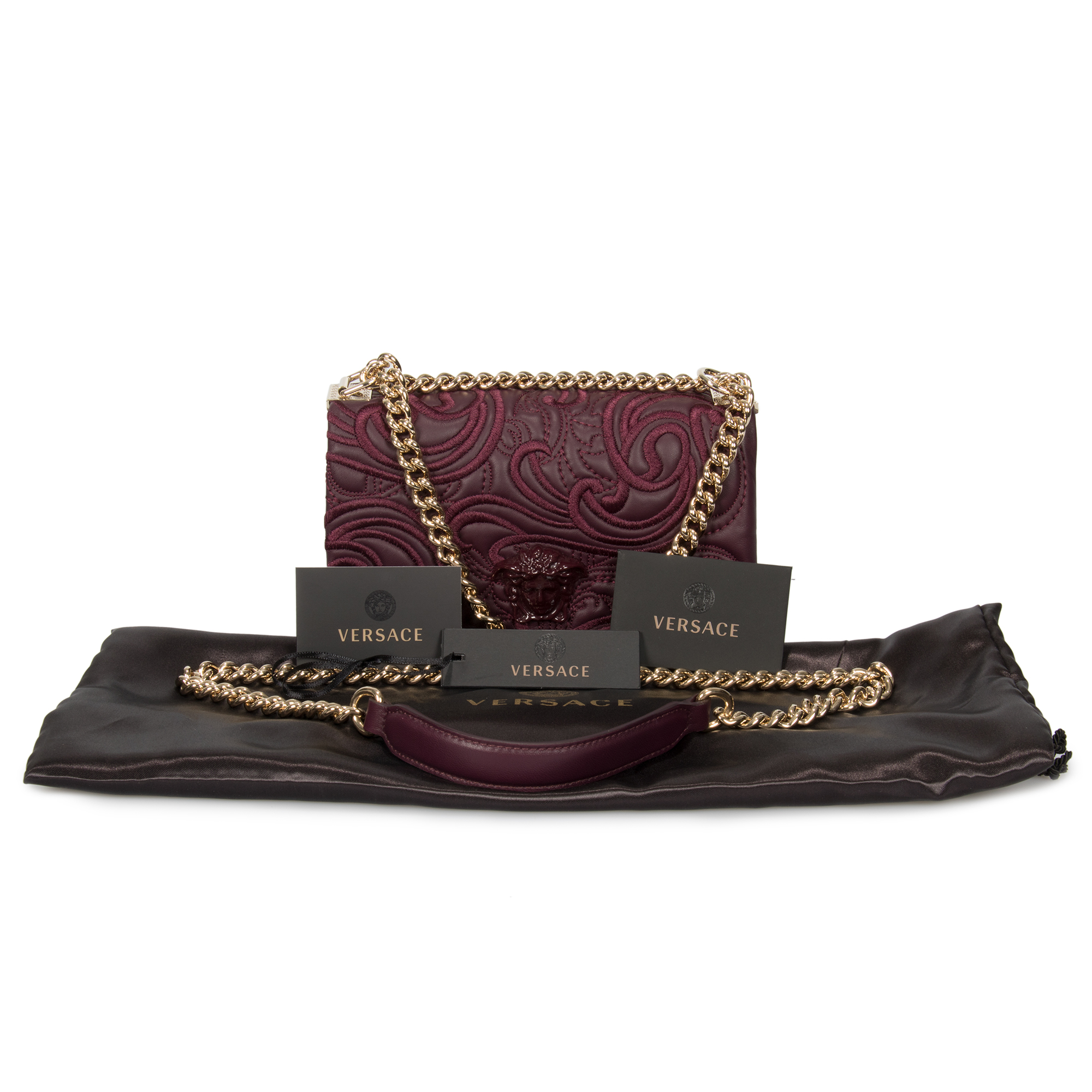 314fbadf9d Versace Embroidered Baroque Shoulder Bag