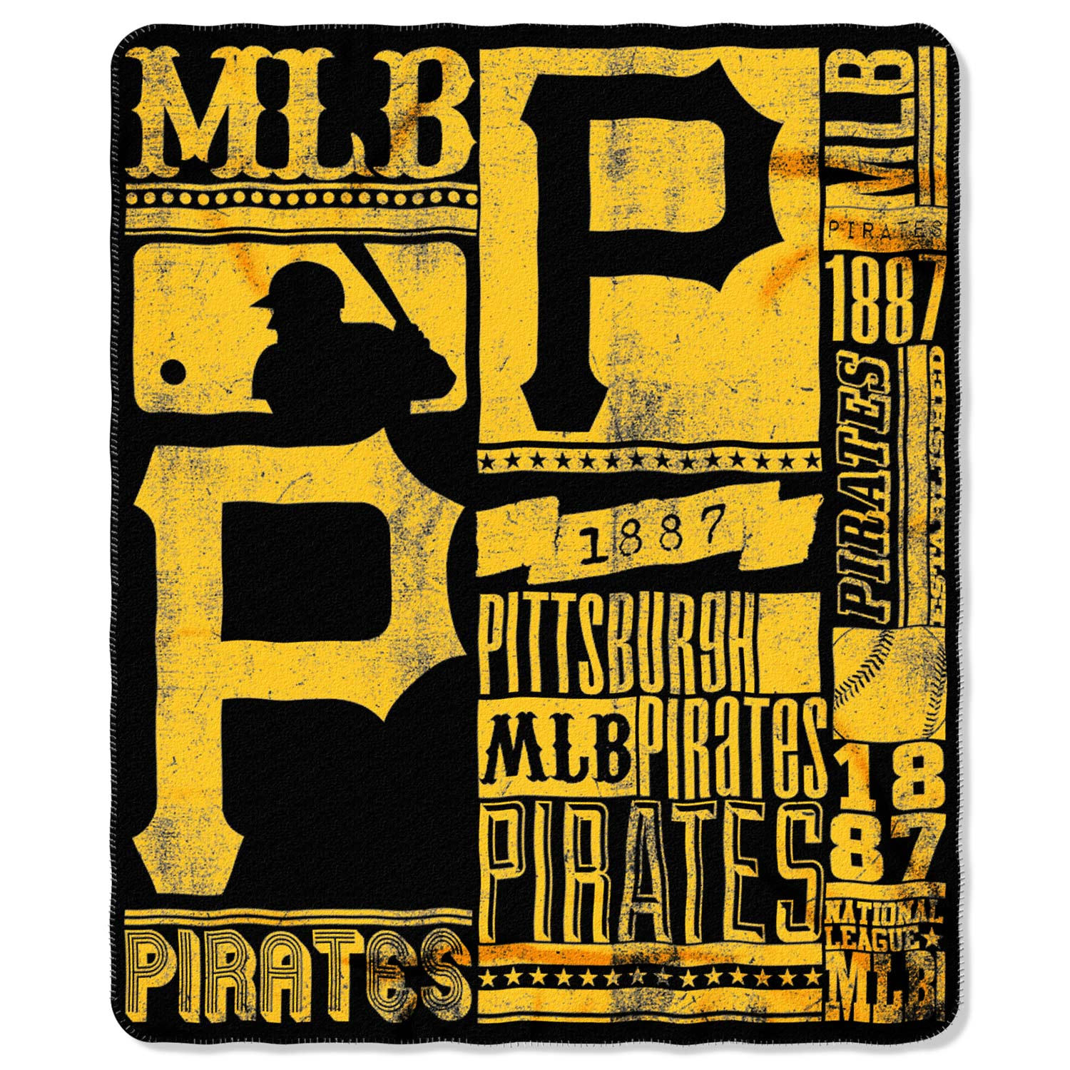 "Pittsburgh Pirates The Northwest Company 50"" x 60"" Strength Fleece Blanket - No Size"