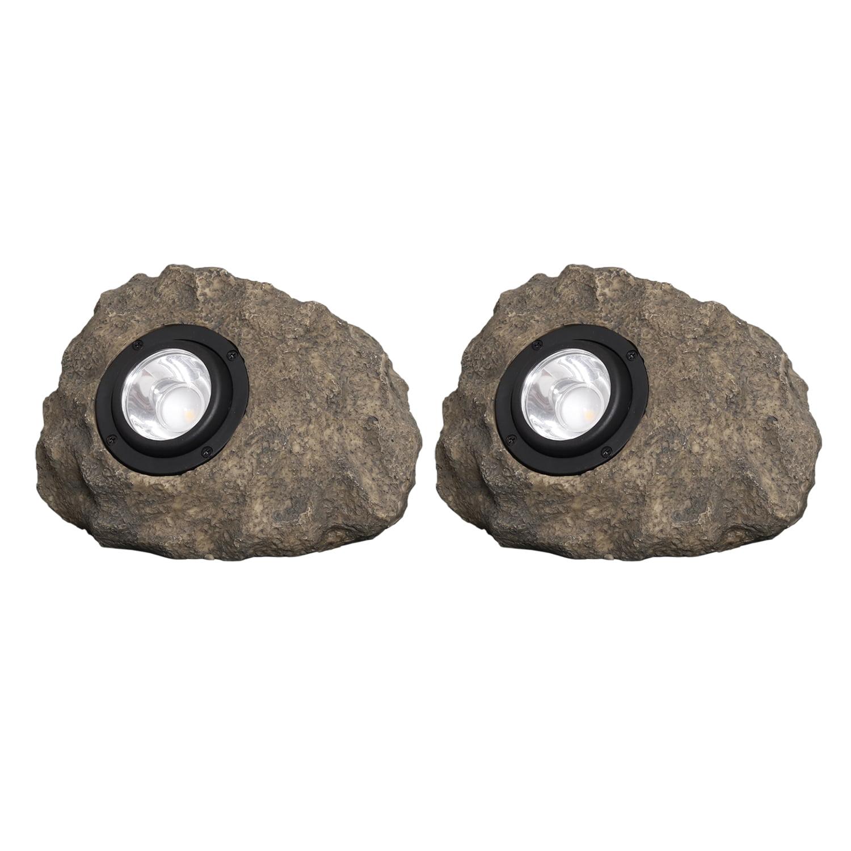 Westinghouse Medium Solar Rock Light - 2PK Set