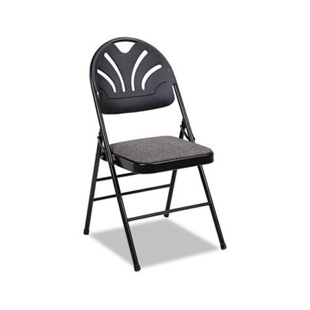 Fabric Padded Seat Molded Fan Back Folding Chair