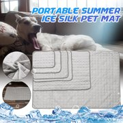 4 Size Pet Dog Cooling Mat Self Cooling Pad Mat Heat Relief Cushion Comfort for Cats and Dogs