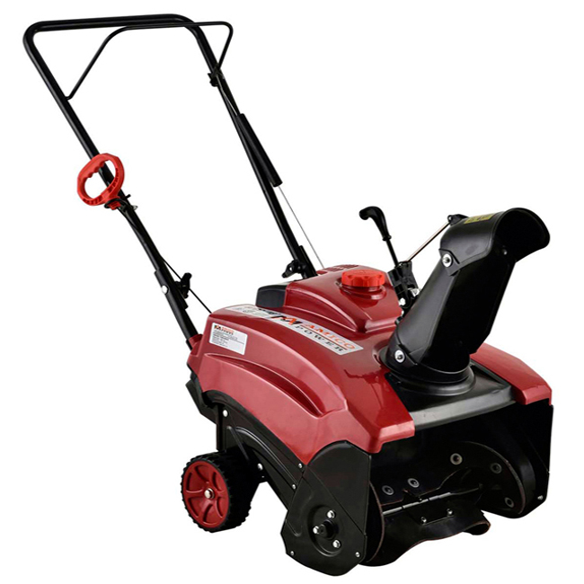 AST-18 in. 87cc Single-Stage Electric Start Gas Snow Blower Snow Thrower Amico Power by Amico Power Corp