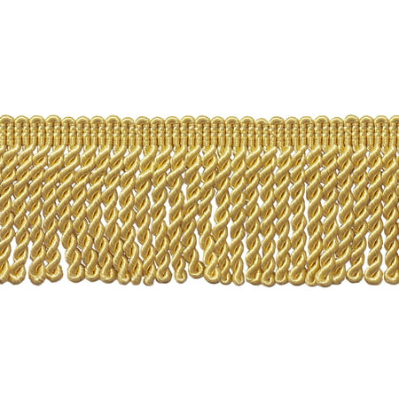 Utopia Fringe - 2.5 Inch Bullion Fringe Trim, Style# EF25 Color: LIGHT GOLD - B7, Sold By the Yard