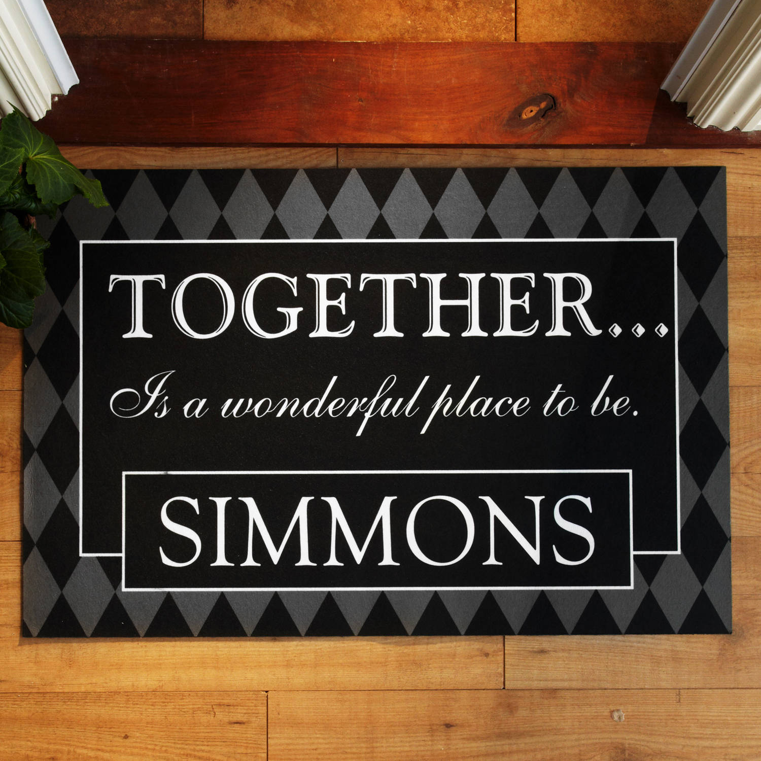 "Personalized ""Together���"" Doormat, Available in Different Sizes"