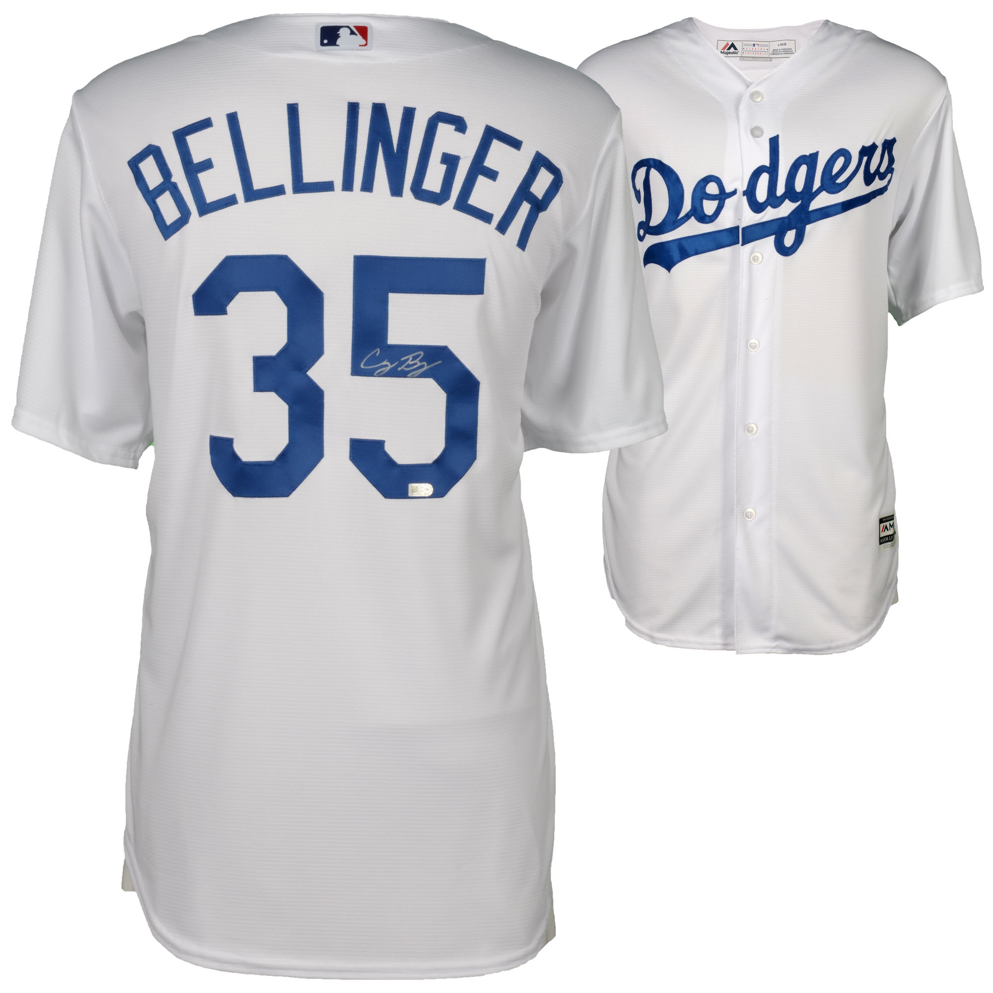 Cody Bellinger Los Angeles Dodgers Fanatics Authentic Autographed Majestic White Replica Jersey - No Size