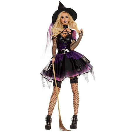 Sexy Amethyst Pentagram Witch Costume - Witches Costume Ideas