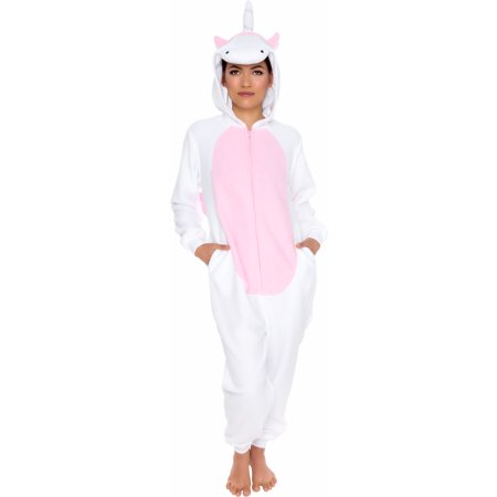 Cute Adult Pajamas (Silver Lilly Adult Slim Fit One Piece Cosplay Unicorn Animal)