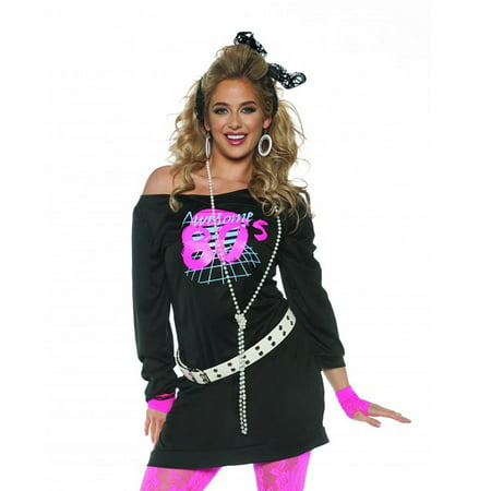 Awesome 80's Women's Tunic (80s Groupie Adult Costume)