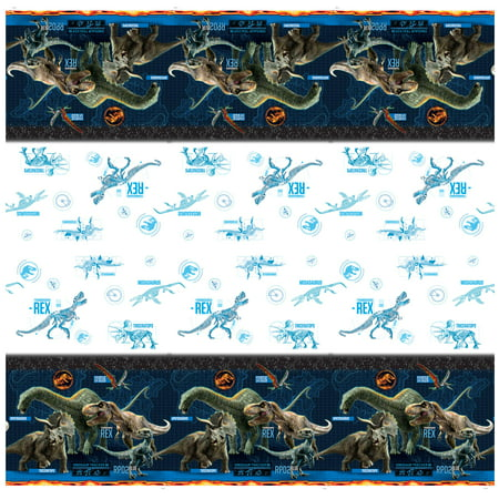 Jurassic World Plastic Tablecloth, 84 x 54 in, 1ct - Christmas Plastic Tablecloths