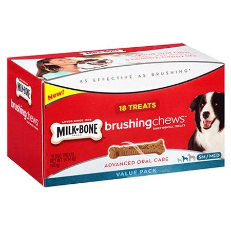 Milk Bone Brushing Chews Daily Dental Treats  Small Medium Value Pack  14 14 Oz