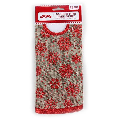 Holiday Time 4-Piece Burlap Christmas Tree Kit