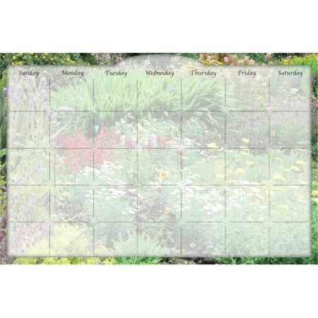 Biggies Dc Frg 36 Dry Erase Stickie Monthly Calendar Flower Garden