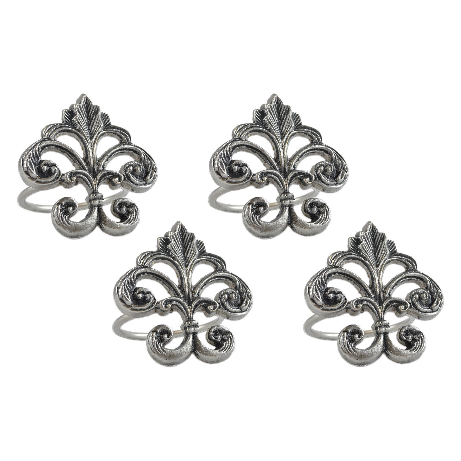 Fleur De Lis Napkin Ring Set of 4