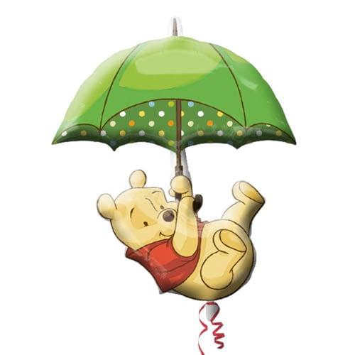 Winnie the Pooh Umbrella Supershape Foil Mylar Balloon (1ct)