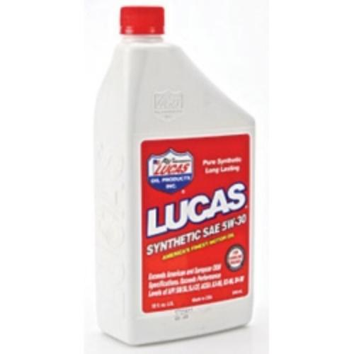 Lucas Oil 10049 Synthetic Sae 5w-30 Motor Oil, Case Of 6, Quart Size