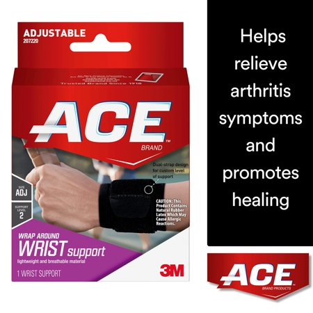 ACE Brand Wrap Around Wrist Support, Adjustable, Black, 1/Pack