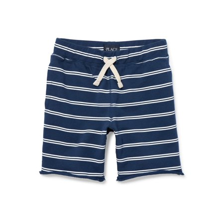 The Childrens Place Boy's Pull Stripe On French Terry Short - Childrens Online Clothes