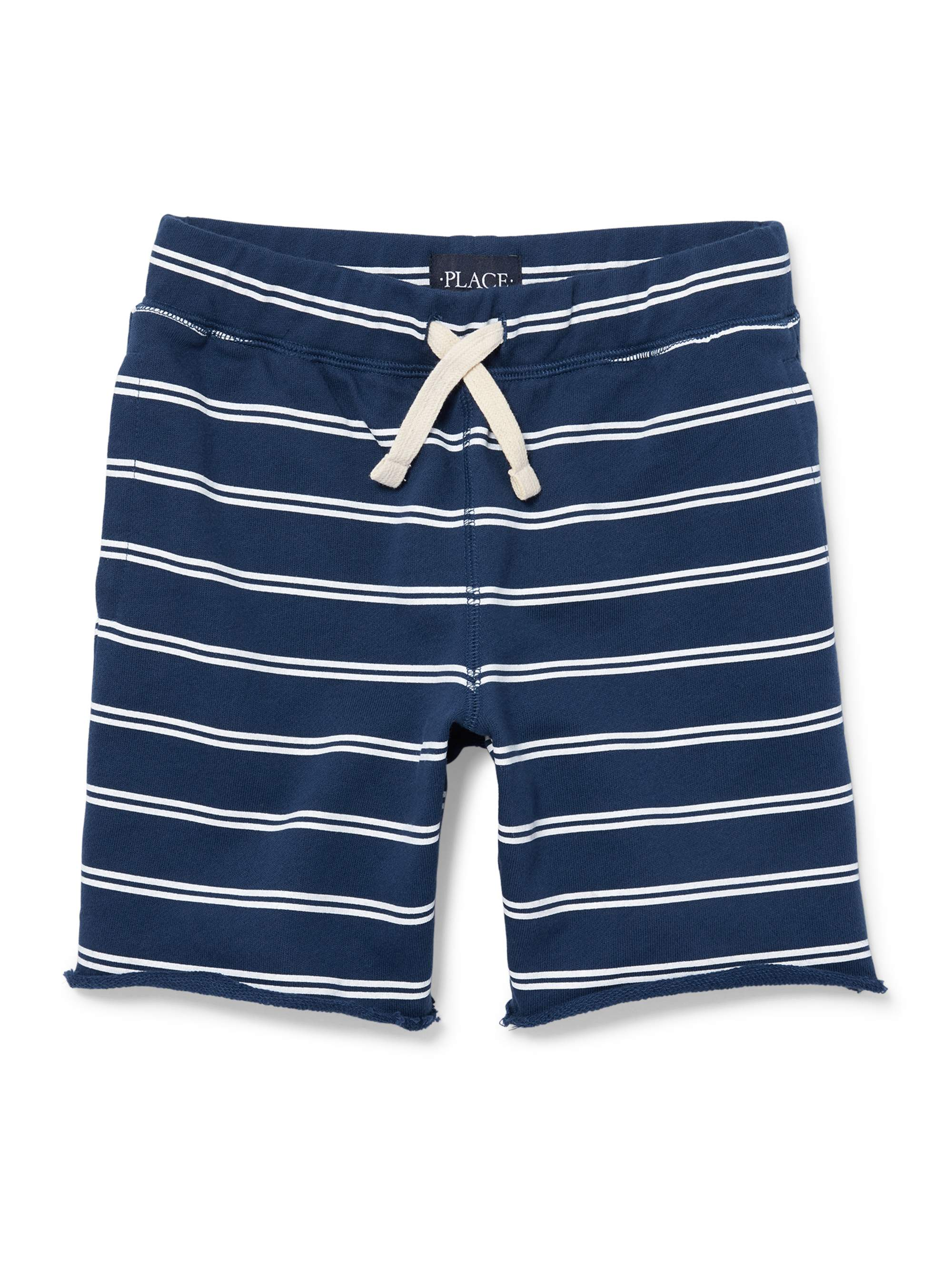 The Childrens Place Boy's Pull Stripe On French Terry Short