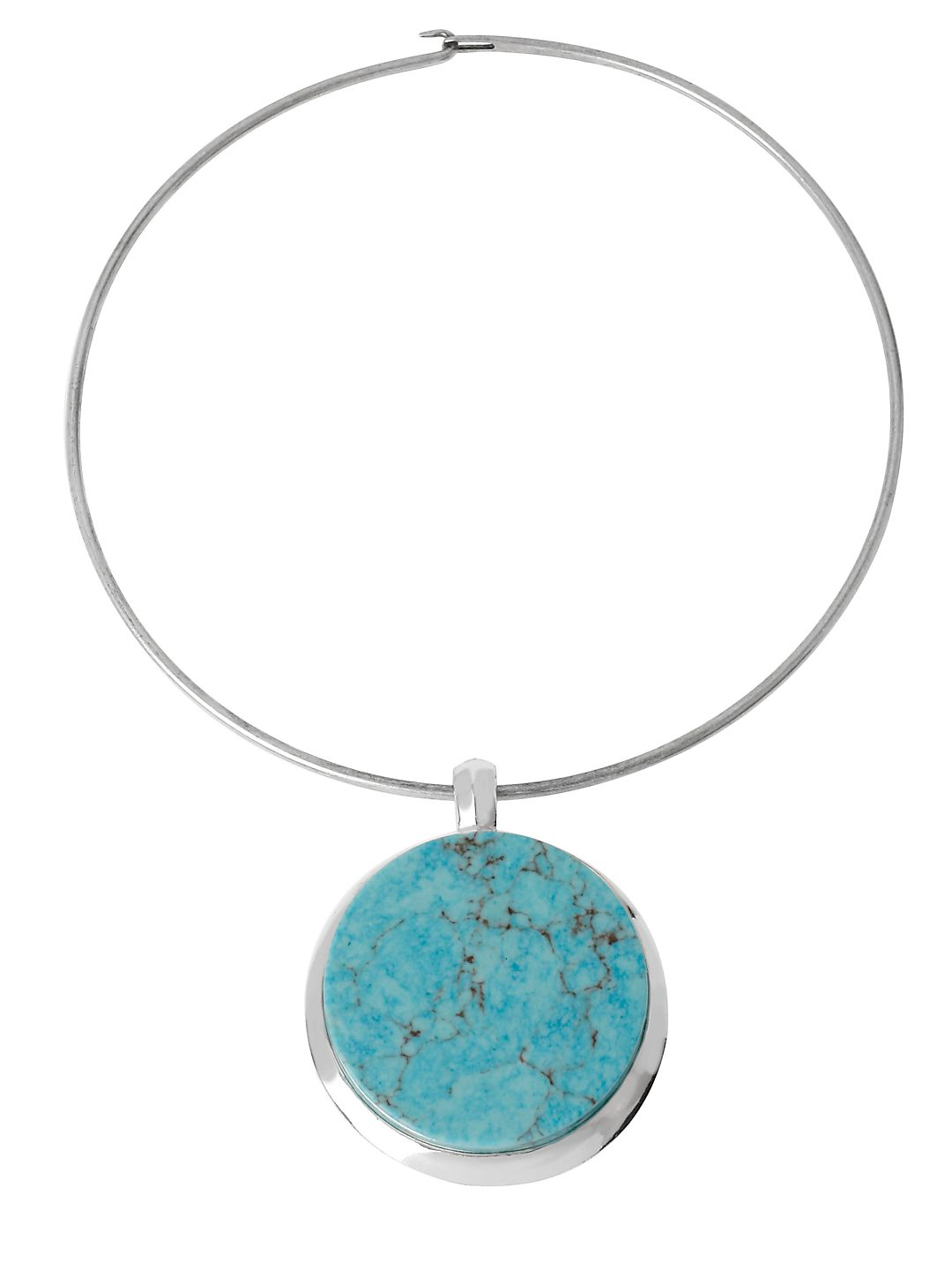 Semiprecious Turquoise Pendant Necklace
