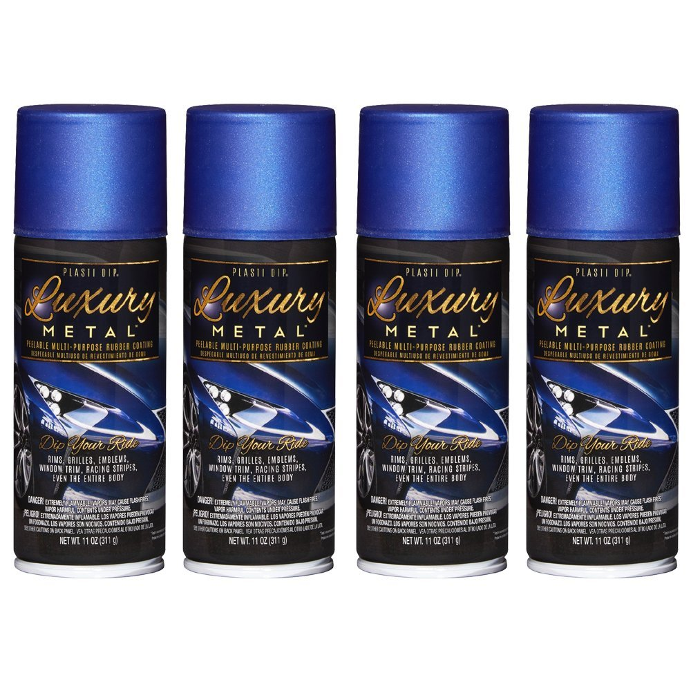 Performix Plasti Dip 11355 Luxury Rubber Coating, Ultrasonic Blue Metallic, 4 Cans