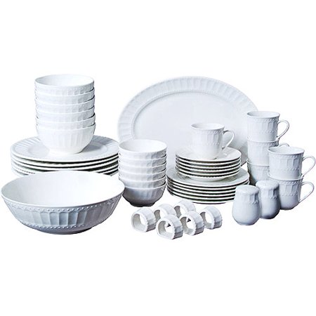 Gibson Home Regalia 46-Piece Dinnerware and Serveware Set, Service for 6 - La Rochere Perigord 6 Piece