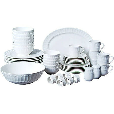 Gibson Home Regalia 46-Piece Dinnerware and Serveware Set, Service for 6 - Halloween Entertaining Serveware