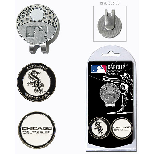 Team Golf MLB Chicago White Sox Cap Clip With 2 Golf Ball Markers