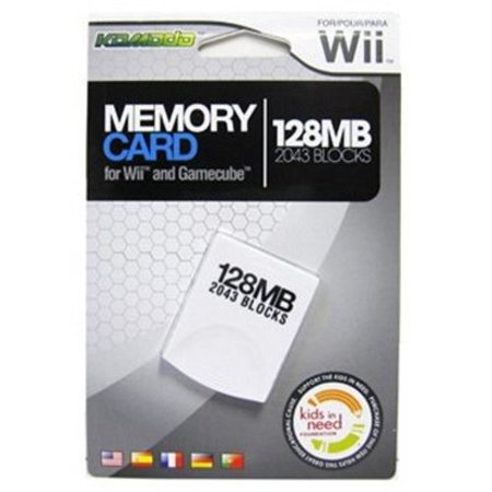 KMD 128MB Gamecube Compatable Memory Card for Nintendo Wii (Wii Console Memory Card)