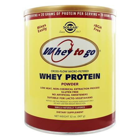 Solgar - Whey To Go Protein Powder Natural Vanilla - 32