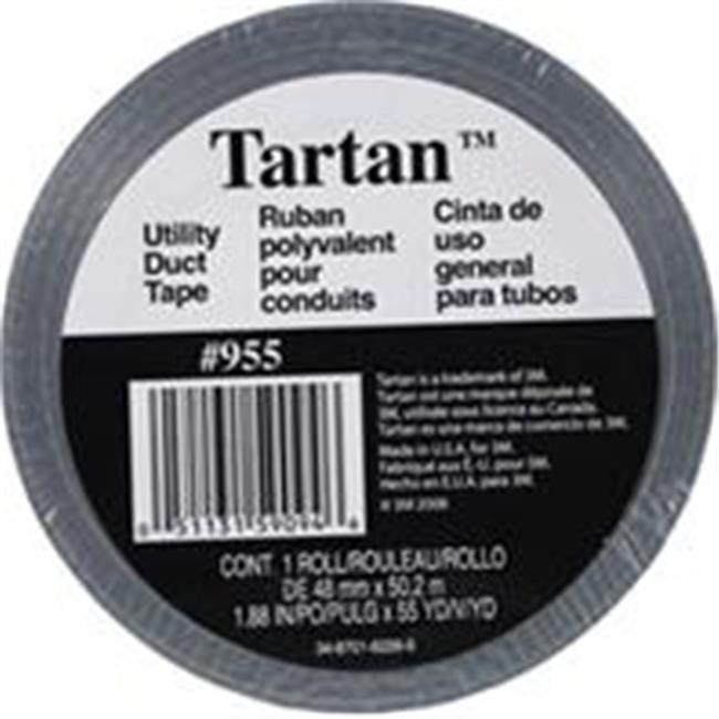 TBL-108 B Polyethylene Coated Cloth Tarp Tape,3 In x 36 yd,7.5 mil,Black Black