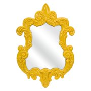 Finely Yellow Baroque Wall Mirror - 21W x 30H in.