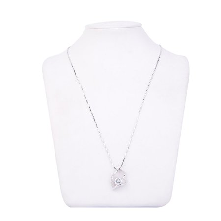 Fashion Charm Jewelry Crystal Heart Pendant Chain Necklace Party Gift - image 5 de 8