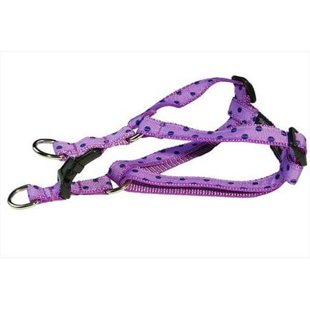 Sassy Dog Wear POLKA DOT-ORCHID-NAVY1-H Polka Dot Dog Harness, Orchid & Navy - Extra Small