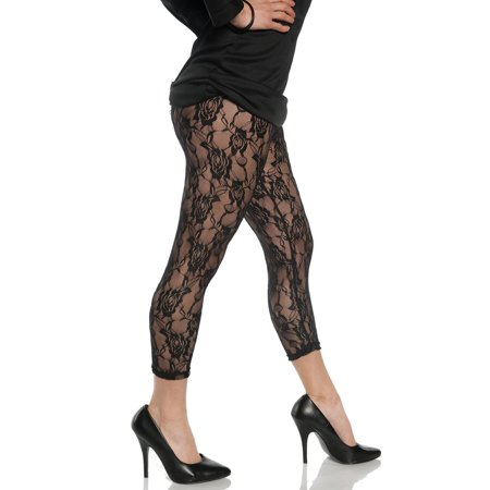 Lace Black Womens Adult 80S Diva Rocker Dance Costume (80's Costume Ideas With Leggings)