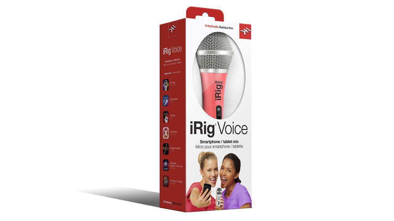 IK Multimedia Pink iRig Voice Handheld Microphone i-Rig I-K 1-K 1K by